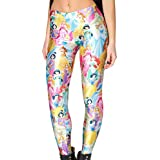 QZUnique Women's Cartoon Character Digital Printed Footless Elastic Leggings