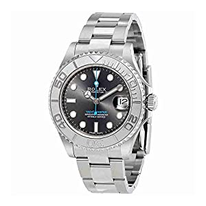 Rolex Yacht-Master Rhodium Dial Steel and Platinum Oyster Midsize Watch 268622RSO