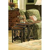 Hooker Furniture Seven Seas Nest of Three Tables w/ Medallion Motif