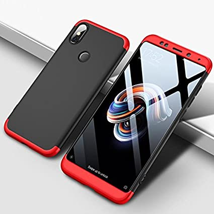 info for 19f62 92514 GadgetsWale GKK Redmi Note 5 Pro Red Back Cover Ultra Thin 360 Degree Full  Front and Back Protection Luxury Case