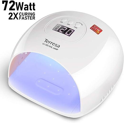 UV LED Nail Lamp, Terresa 72 Watt - Runner Up Pick UV and Led Nail Lamp