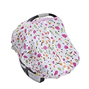 Little Unicorn Cotton Muslin Car Seat Canopy - Berry & Bloom