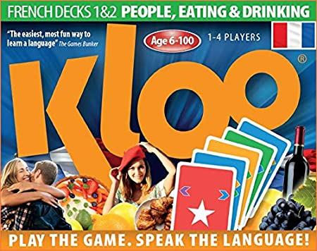KLOOs Learn to Speak French Language Card Games Pack 1 (Decks 1 & 2) by KLOO Games: Amazon.es: Juguetes y juegos