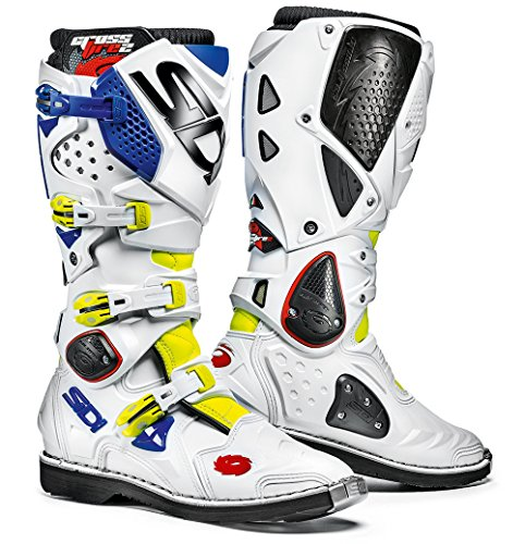 (Sidi Crossfire 2 TA Offroad Boots Yellow White Blue (US 11.5))