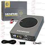 Memphis 8' Car Under Seat Super Slim Powered Subwoofer Aluminum Enclosed