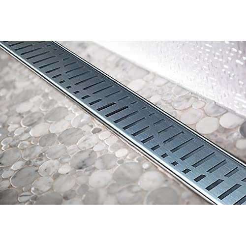 hot sale 2017 Royal Linear Shower Drains Wind stainless steel Luxurious line by Serene Steam include Hair Trap