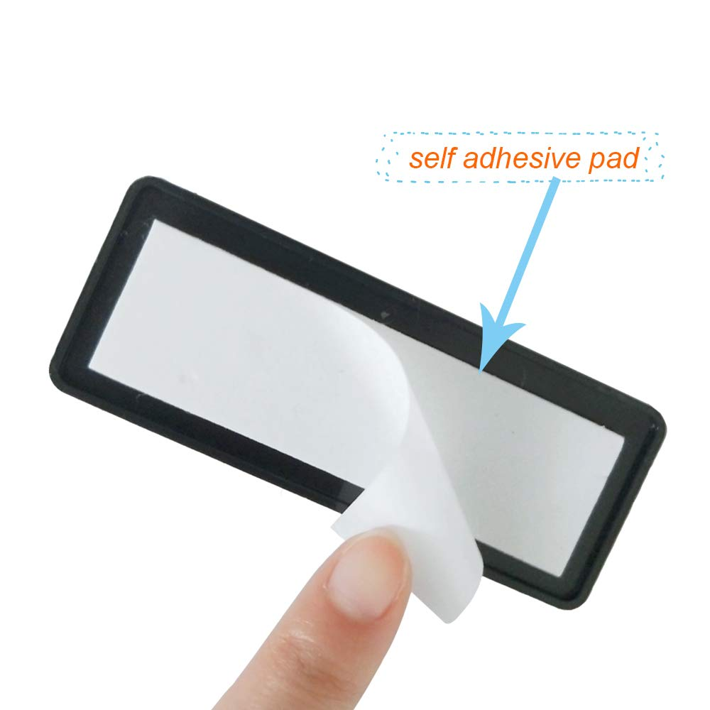 white AOHEWEI 6 x Self Adhesive Reflectors Rectangular Stick-on Reflectors White Safety Rear Reflective for Gate Posts Fence Trailer Caravan ECE Approval