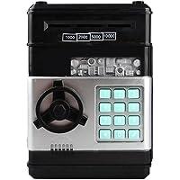 Toymytoy çocuk kumbaralar mini ATM Tresor çocuk oyuncağı hediye şifreli kilit 19 * 14 * 12,5 cm Siyah PF1600580NC4A5347