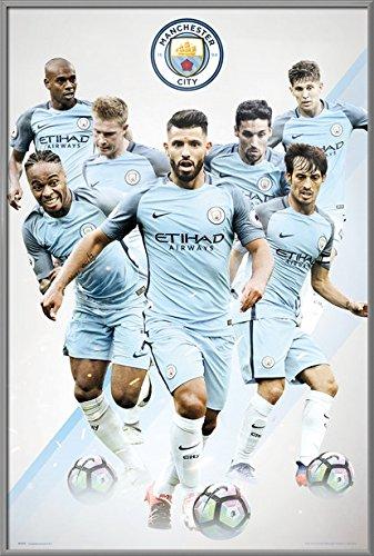 Manchester City - Framed Soccer Poster / Print
