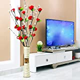 Situmi Artificial Flower Emulation Rose Floor-To-Ceiling Vase Home Decorated Wedding Floral Arts Red