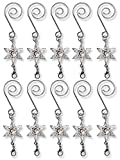 Christmas Ornament Hooks - Set of 10 Decorative S Hooks with Star Charm and a Lobster Claw Attachment - Decorative Hangers
