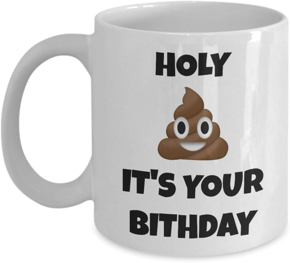 Amazon.com Birthday Mug Holy Shit It's Your Birthday Funny ...