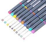 #9: Fineliner Color Pen Set, 0.38mm Colored Fine Liner Sketch Drawing Pen, Pack of 10 Assorted Colors (1 pack)