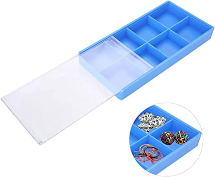 Caja de almacenamiento de plástico con tapa deslizante, 8 ...