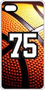 Basketball Sports Fan Player Number 73 White Rubber Decorative iphone 4s Case