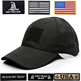 Lightbird Tactical Hat with 6 Tactical Velcro Patches, Adjustable Tactical Hats for Man, Operator OCP Ball Hat Cap for Work, Gym, Hiking, Gift and More