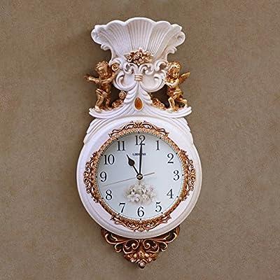 DW&HX Reloj de pared decorativo,Relojes de salón vintage para dormitorio-A