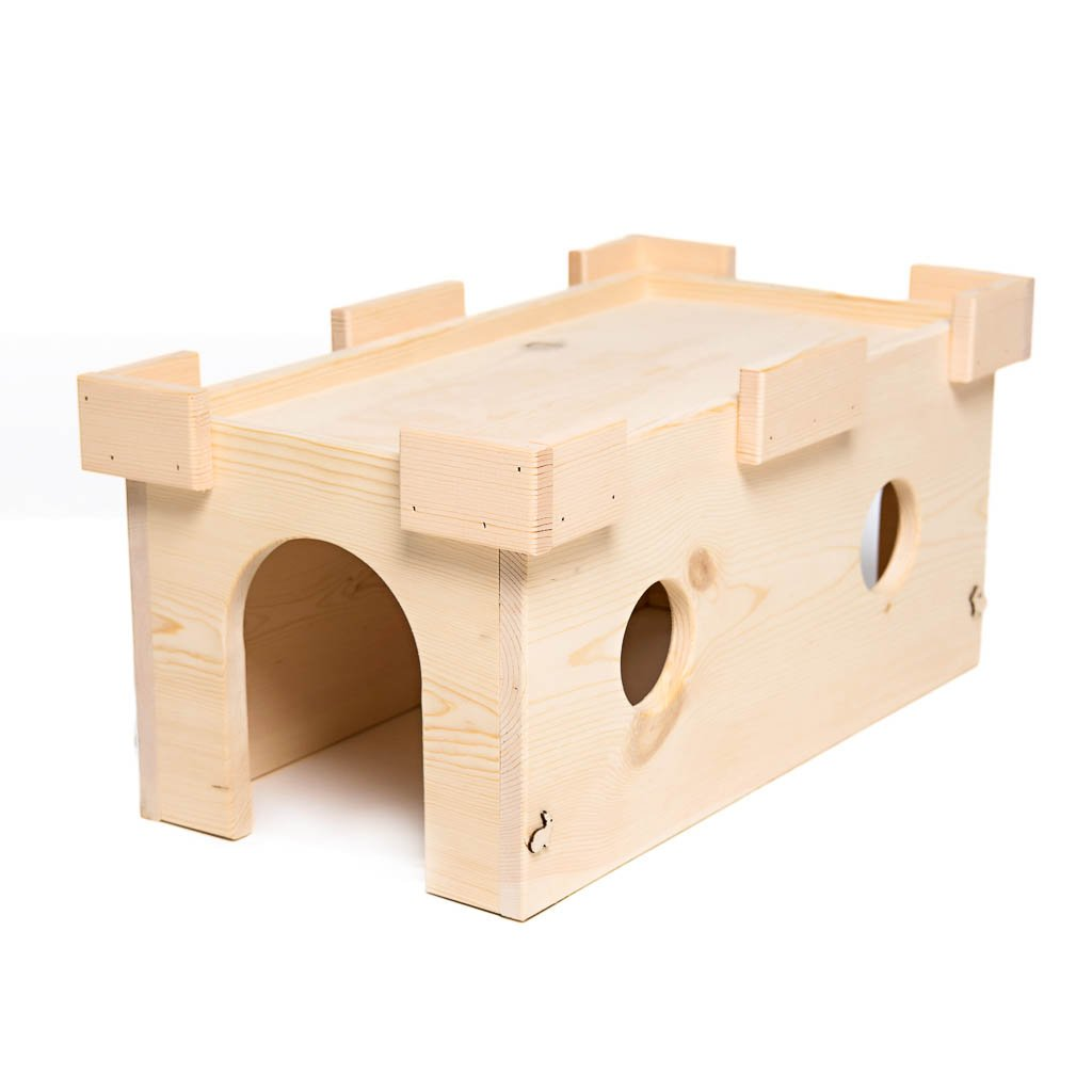 Small Pet Select Handmade Castle Tunnel Hideout by Small Pet Select