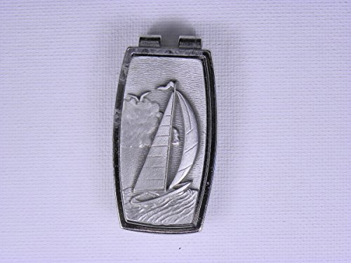 Sailboat Money Clip Pewter Sailing Sailor Captain (Pewter Sailboat)