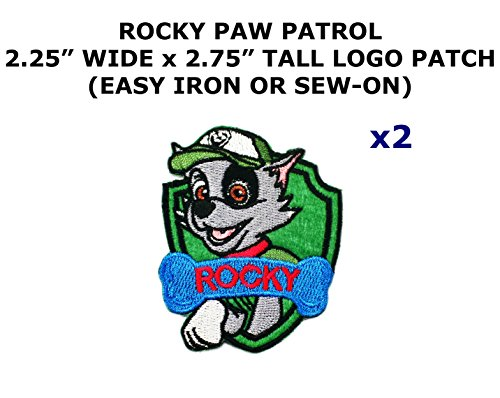 Costume Diy Deadpool (2 PCS Rocky Paw Patrol Cartoon Theme DIY Iron / Sew-on Decorative Applique)