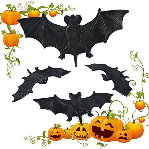 HongXander Happy Halloween Decor Terror Bat Supplies Party Fun Toy Household Children Room Decor 3 pcs (Terror Eyes Halloween Dvd)