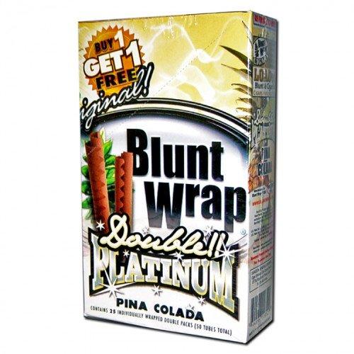 DOUBLE!! PLATINUM CIGAR WRAPS 2 PER PACK PINA COLADA FLAVOR PACK OF - J Juicy S