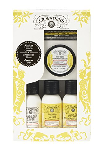 J.R. Watkins Travel Kit Lemon Cream Soap Lotion Body Wash Li
