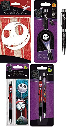(The Nightmare Before Christmas Writing Gift Set - Includes Gel Pens, Window Decal, Bookmark, and Jack Projector Pen)