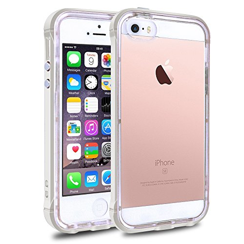 Shockproof Armor Case for Apple iPhone SE/5S/5 (Crystal/White) - 6