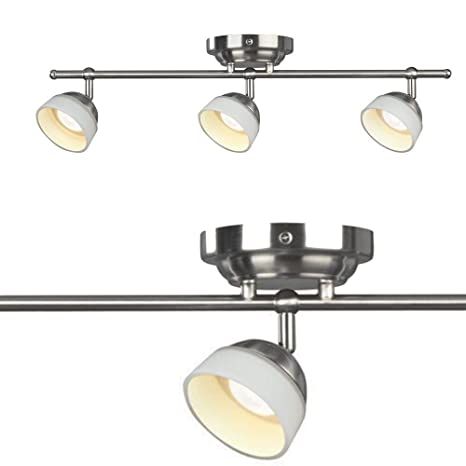 amazon track lighting madison 3light satin nickel dimmable fixed track lighting kit
