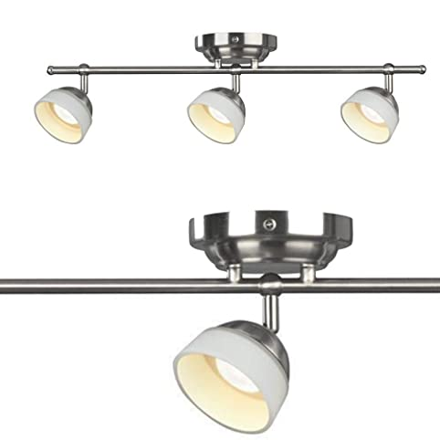 Madison 3 light satin nickel dimmable fixed track lighting kit madison 3 light satin nickel dimmable fixed track lighting kit mozeypictures Image collections