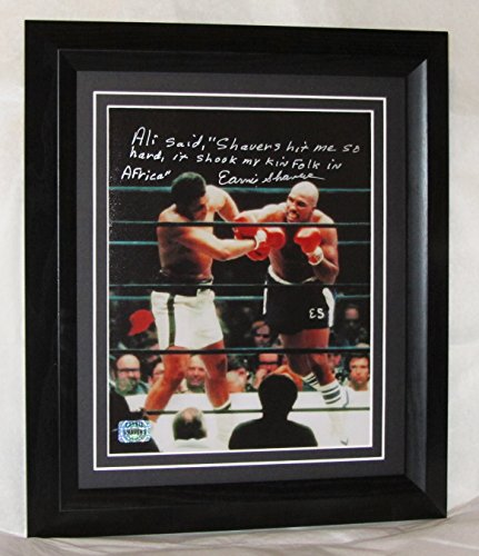 A185ES EARNIE SHAVERS SIGNED FRAMED GUARANTEED AUTHENTIC
