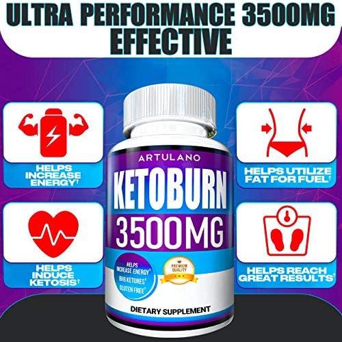 Keto Pills - 5X Potent (2-Pack   3500MG) - Best Keto Burn Diet Pills - Boost Energy and Metabolism - Exogenous Keto BHB Supplement for Women and Men - 180 Capsules 4