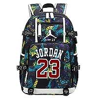 YOURNELO Basketball Player Rucksack School Backpack Bookbag (New 23 Yellow)