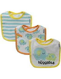 Unisex-Baby Terry Dribbler Bib, Elephant, One Size (Pack of 3)