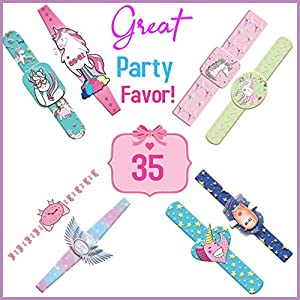 ecoZen Lifestyle Unicorn Tattoos, 35 Unique Watch Designs Kids Temporary Tattoos , Unicorn Birthday Party Favors for Girls and Boys, Non-Toxic Sticker Tattoo for Kids, Goody Bags