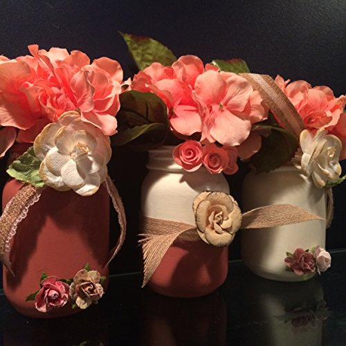coral-and-peach-hydrangea-and-mason-jar-vase-set-shabby-chic-decor-mothers-day-gift