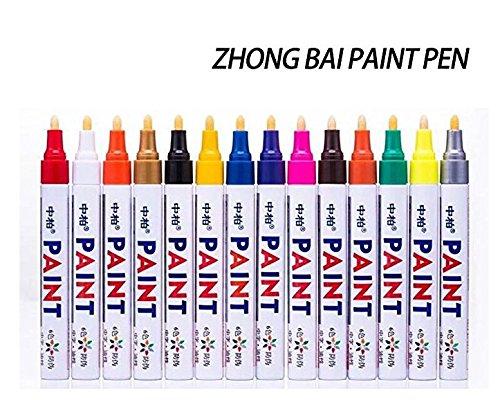 12 Colors Acrylic Paint Marker Pens DIY Album Black Card Oil-based Paint Marke Non-toxic Marker Pens (Oil Album)