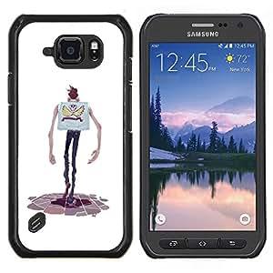 LECELL--Funda protectora / Cubierta / Piel For Samsung Galaxy S6Active Active G890A -- Personaje de dibujos animados Manos flaco Hombre del cráneo --