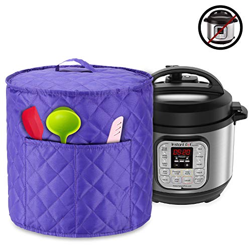 Luxja Dust Cover for 3 Quart Instant Pot, Cloth Cover with Pockets for Instant Pot (3 Quart) and Extra Accessories…