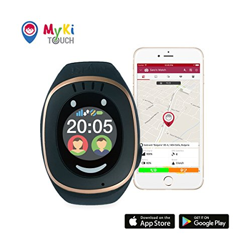 MyKi GPS Watch (Black) Kids with GPS Tracker, Phone Watch with SOS and  Smart Watch App (Black)
