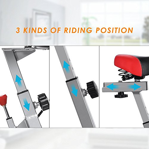 Oanon Indoor Cycling Bike Spin Bike Smooth Belt Driven Stationary Cycle Exercise Bike for Home[US STOCK]