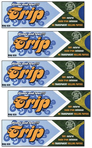 Trip King Size {4 Packs} Clear Transparent Rolling Papers (Transparent Papers Rolling)