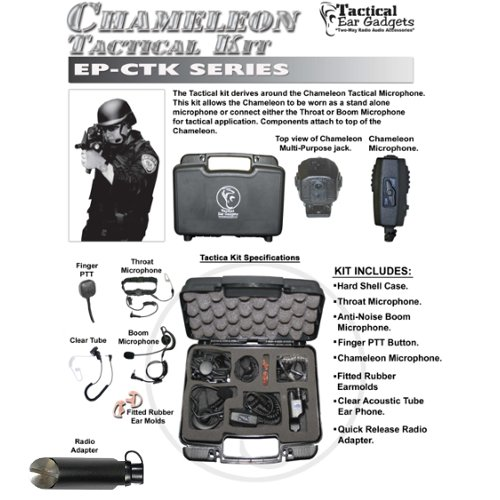 CHAMELEON Quick Release Tactical Kit for Harris Unity XG-100 XL-200P Radios by Tactical Ear Gadgets