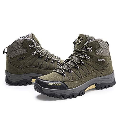 Sport Campeggio Men Gomnear verde trekking Arrampicata Sneaker High Boots Fur Fodera Outdoor Hiking Caldo Scarpe zqZwdqP4