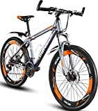Mountain Bike, MINGDI 26' MTB 24 Speed Bicycle with Disc Brakes (26INCH)