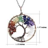 Tree of Life Wire Wrap 7 Chakra Nature Healing