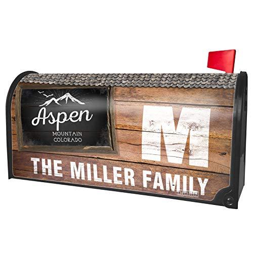 NEONBLOND Custom Mailbox Cover Mountains Chalkboard Aspen Mountain - Colorado
