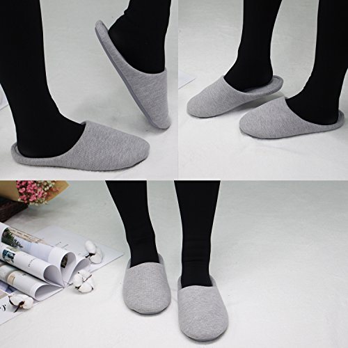 Ofoot femme Gris Ofoot Chaussons Chaussons Owx5qBp