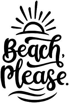 Amazon Com Beach Please Vinyl Decal Sticker Cars Trucks Vans Suvs Windows Walls Cups Laptops Black 5 5 Inch Kcd2418b Automotive